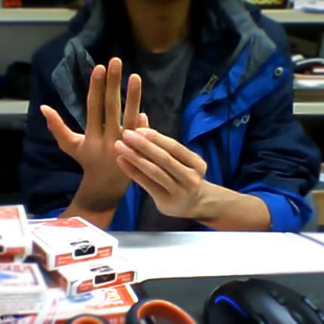 Guy takes thumb trick to a whole new level