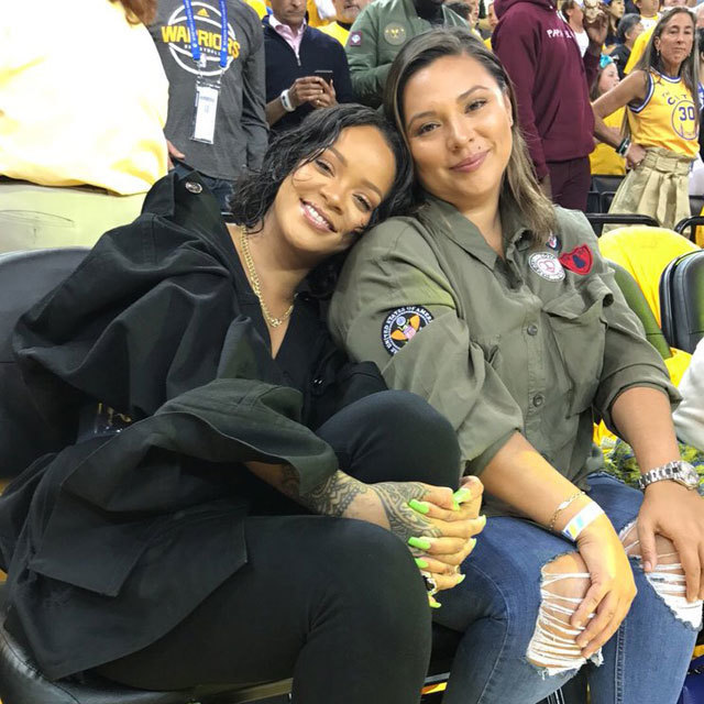 😍 @rihanna & @JennnRosales courtside for Game 1 of the #NBAFinals