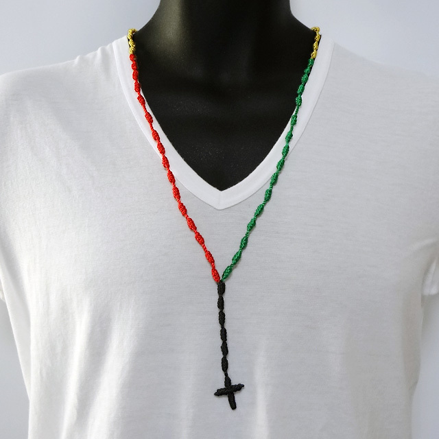 Mexican Rosary Necklace - Cafe de Zion online shop by Team Zion