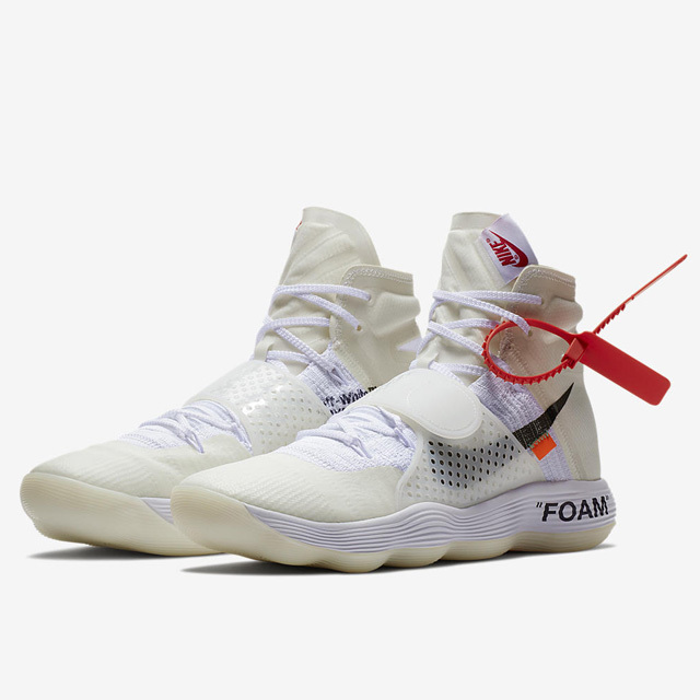 NIKE THE TEN REACT HYPERDUNK AJ4578-100 OFF WHITE