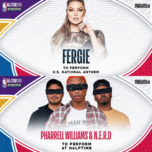 Eight-time Grammy Award winner @Fergie to perform the U.S. National Anthem prior to tip-off of the 2018 #NBAAllStar Game!